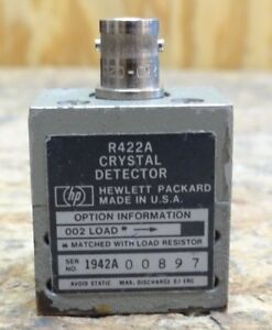 Hp Model R422a Crystal Detector