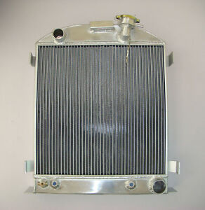 1937 38 Aluminum Radiator chevy engine Ford grill shells 3 Row Stock height 37