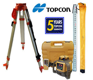 Topcon Rl h5a Db Laser Level Package Plus 13 Ft Inches Rod Tripod