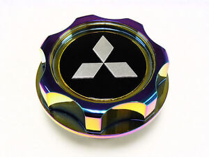 Mitsubishi Motors Engine Billet Aluminum Neo Chrome Valve Cover Cap Oil Filler S