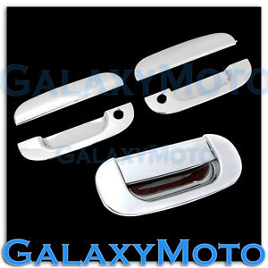 Chrome 2 Door Handle W Kh tailgate Cover For 94 01 Dodge Ram 1500 2500 3500
