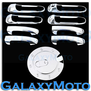 Chrome 4 Door Handle W o Psg Keyhole gas Cover For 99 04 Jeep Grand Cherokee