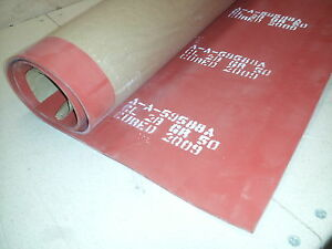 Nos Solid Silicone Rubber Sheet 3 X 3 X 1 8 Zz r 765 Cls 2b Grd 50 High Temp