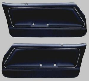 1978 1981 Trans Am Camaro Custom Deluxe Door Panel Set Black In Stock
