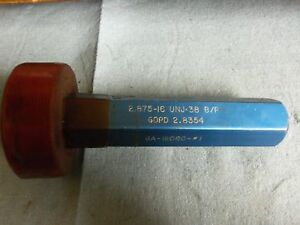 2 7 8 16 Unj 3b Before Plate Plating Thread Plug Gage Gauge 2 875 P d 2 8354