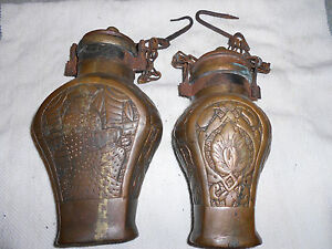 Collectable Vintage Antique Watering Cans One Of A Kind A Decorative Pair