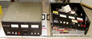 2 Used Coherent Model 52 Ion Laser Power Supply Military Water Cooled Units