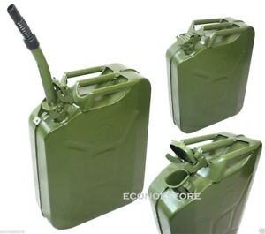 5 Gallon Jerry Can Gas Fuel Steel Tank Green Military Nato Style 20l Storage Can