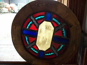 Round Symbols Stained Glass Window Sg 1437