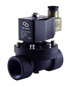 1 Inch Plastic Zero Differential Electric Solenoid Water Process Valve 110v Ac