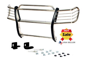 99 02 Chevy Chevrolet Silverado 1500ld Chrome Brush Stainless Steel Grill Guard