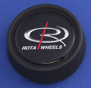 Rota Wheels Plastic Center Cap 2512 Black 2 1 2 Wide
