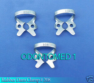 12 Endodontic Rubber Dam Clamp 208 Surgical Dental Instruments
