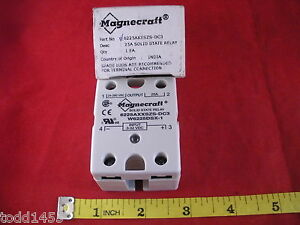 Magnecraft 6225axxszs dc3 W6225dsx 1 Solid State Relay 25a 24 280 Vac 3 32v Dc