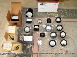 Lot 19 Misc Meters Meter Nos Ac Dc Amps Volts Tuning Frequency Free Shipping