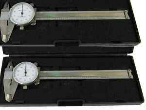Special 2pc Brand New 4 Stainless Steel Dial Caliper