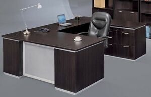 New Pimlico Mocha Modern Executive Personal File U shape Office Desk