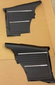 1968 Chevy Camaro Rear Door Panel Set Black Z 28 Rs Ss Pace Car in Stock