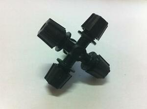 50pcs Black Micro Sprinker Head Misting Cross Atomizing Nozzle four Export