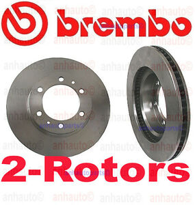 Set Of 2 Brembo Front Rotors Toyota 4 Runner Fj Cruiser Tacoma 6 lug 319mm Diamt
