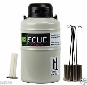 3 L Liquid Nitrogen Cryogenic Container Tank Dewar 6 Canisters U s solid 25 Days