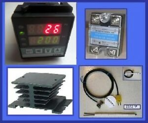 Pid Temperature Controller Kiln Probe Ssr Relay 40a Hs For Paragon Pottery Glass