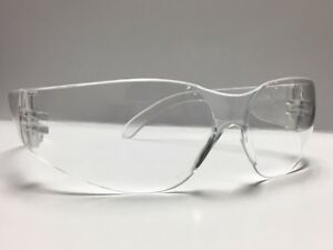 120 Pair Case Bulldog Clear Lens Frost Temples Safety Glasses Ansi Z87 New