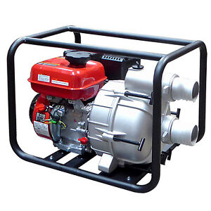 6 5 Hp 3 Gas Power 380gpm Trash Water Pump Drain 380 Flood Irrigation W Epa