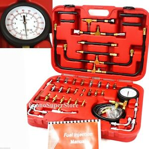 Pro Deluxe Manometer Fuel Injection Pressure Tester Gauge Kit System 0 140 Psi