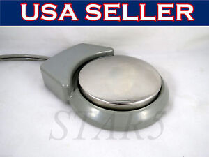 Dental 2 Hole Foot Control Pneumatic Round Pedal And Tubing B2 Standard Star5