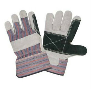 144 Pair Double Palm Shoulder Split Leather Work Gloves X large Xl