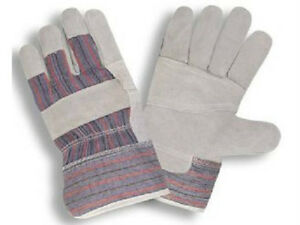 240 Pair Split Reinforced Leather Palm Work Gloves Mens Size Large L New Pairs