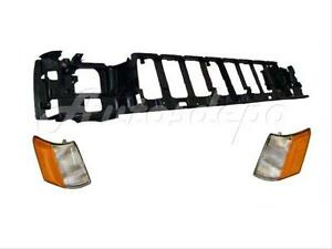 For 93 95 Jeep Grand Cherokee Header Mounting Panel Side Marker Light 3 Pcs