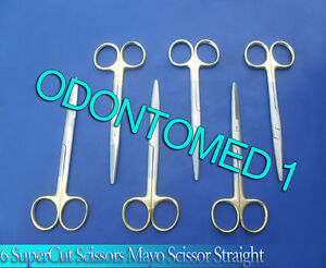 6 Supercut Scissors Mayo Dissecting 5 5 Straight Surgical Veterinary Instrument
