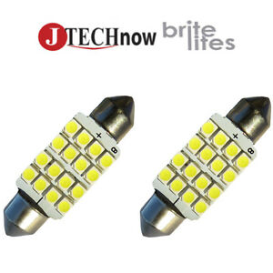 Jtech 2x 42mm 1 72 16 Smd Super Bright Led Bulb 211 212 211 2 212 2 578
