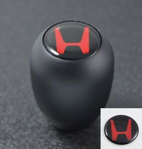 Type R Style Jdm Black Mt Manual Transmission Gear Shift Knob Red H Emblem