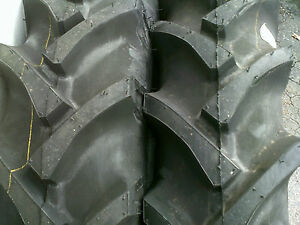 Two 11 2x28 8 Ply Ford Deere R 1 Bar Lug Tube Type Farm Ag Tractor Tires