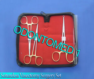 3 Pieces Sutureless Vasectomy Surgery Kit Surgical Instruments