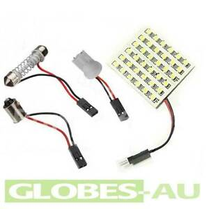 2x 36 Led Interior Light Panel White Car Bulb Lamp T10 Dome Adapter 4wd 12v Wedg