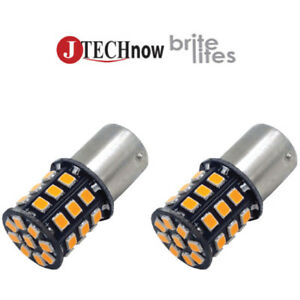 2x 1156 Bau15s 7507 Py21w 33 Smd Yellow Led Super Bright Turn Signal Light Bulb