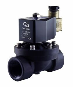 1 Inch Electric Plastic Zero Differential Air Water Solenoid Valve Nc 24v Dc