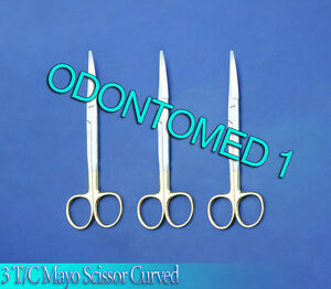 3 T c Mayo Dissecting Scissors Curved 5 5 Surgical Instruments
