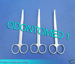 6 Mayo Dissecting Scissors 9 Curved Surgical Instruments