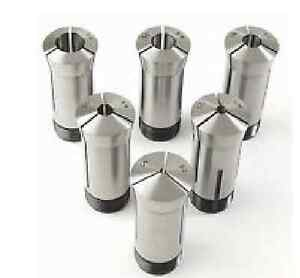 New 6pc 5c Round Collet Set 1 8 To 3 4 By 8ths