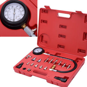 19pc Diesel Cylinder Compression Pressure Meter Engine Testing Gauge Test Kit