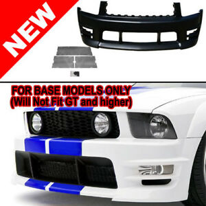 05 09 Ford Mustang V6 Racer Boy Style Front Bumper Kit W Lower Mesh Grilles
