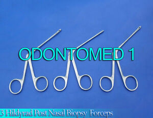 3 Hildyard Post nasal Biopsy Forceps Ent Surgical Instruments