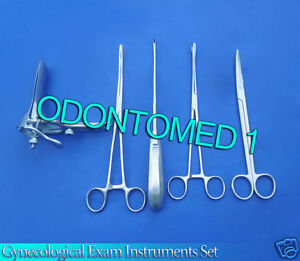 6 Pieces Gynecological Exam Instruments Set Surgical Obstetrical