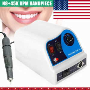 Dental Lab Marathon Polisher Kit N8 Control Box Handpiece 45k Rpm Pedal Usa