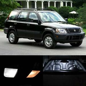 6x Interior Lights Package White Led Bulbs For 1997 2001 Honda Cr V